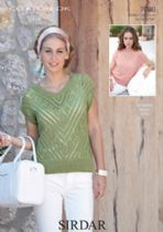 Sirdar Cotton DK Knitting Pattern - 7080 Jumper and Summer Top
